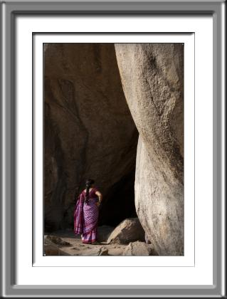 India,woman,rocks