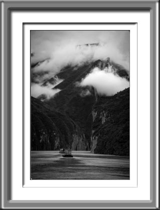 China,river,3 gorges, clouds