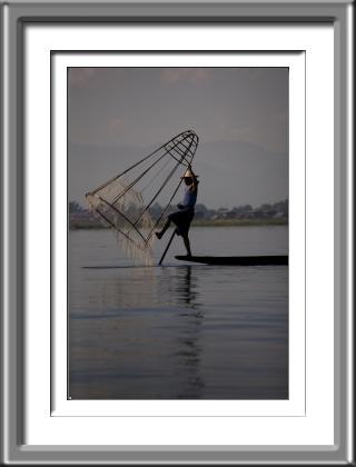 Burma, Myanmar, lake fishing