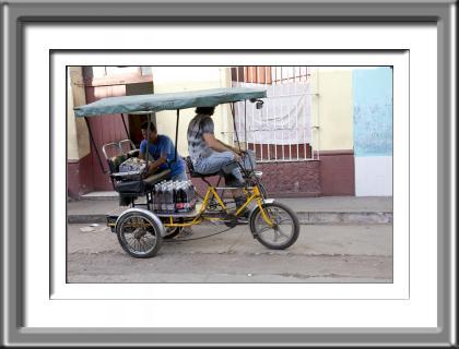 Cuba, Trinidad, bycycle taxi