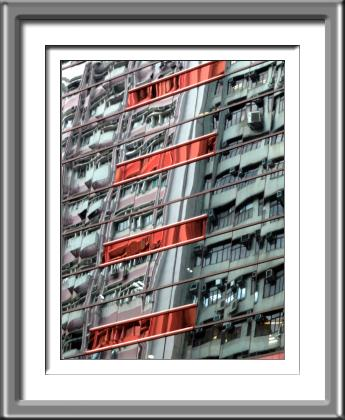 building, abstract, red