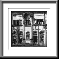 colonial architecture , building, black and white, Burma, Myanmar