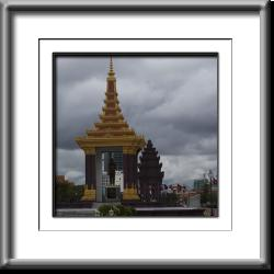 Norodom Sihanouk, king, memorial, monument, Cambodia, Phnom Penh