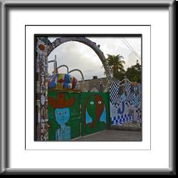 gate, Cuba, Jose Fuster, mosaic, green,Jaimanitas