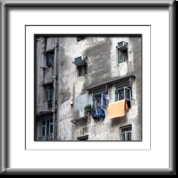 Hong Kong, building, laundry