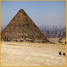 Giza, Egypt, Cairo, Great Pyramid, City Skyline