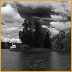 landscape, church, Russia, lake